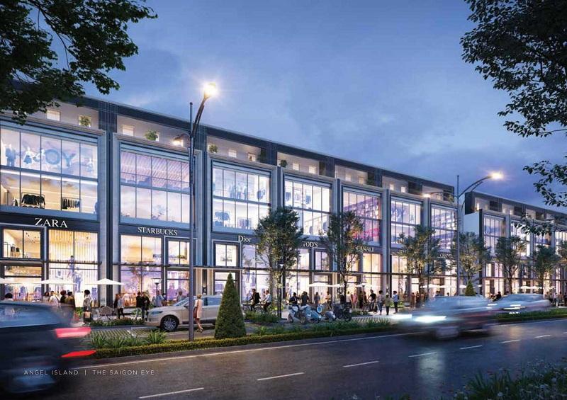 Phối cảnh shophouse dự án Angel Island Nhơn Trạch - Đồng Nai - The Saigon Eyes