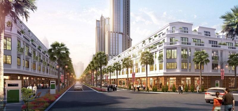 Phối cảnh Shophouse dự án FLC Square World Bắc Giang