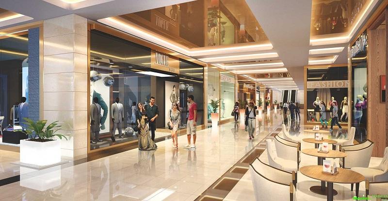 Phối cảnh trung tâm thương mại chung cư Hà Nội Orchard Park số 6-8 Chùa Bộc