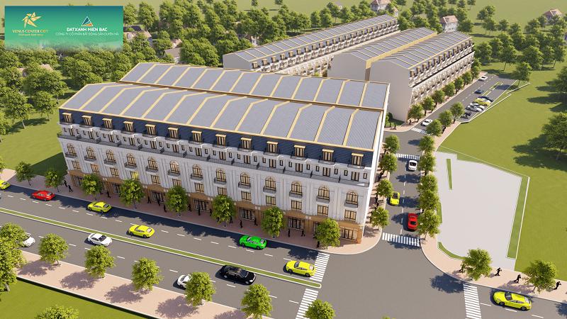 Phối cảnh dự án Venus Center City Trần Lãm - Thái Bình