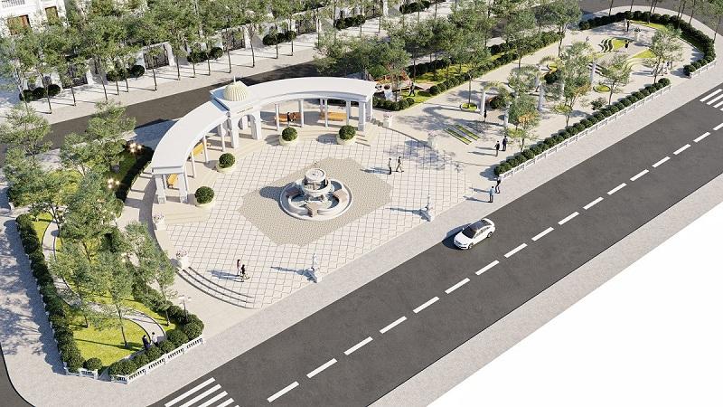 Quảng trường 1 dự án V Melody Villas Hòa Lạc - Thạch Thất