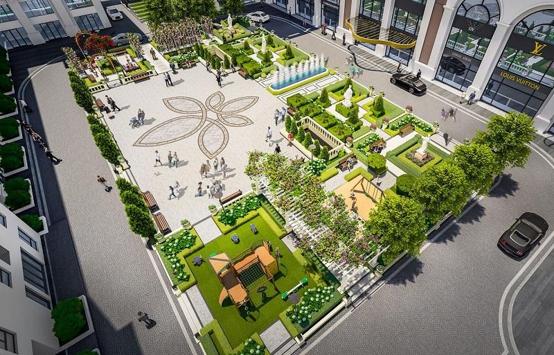 Quảng trường dự án BID Homes Eden Garden Lê Lợi - Thái Bình