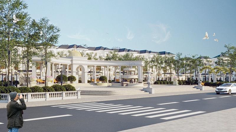 Quảng trường dự án V Melody Villas Hòa Lạc - Thạch Thất