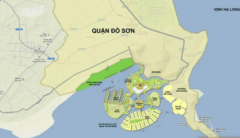 Quy hoạch dự án Dragon Ocean Đồ Sơn - Hải Phòng - Geleximco