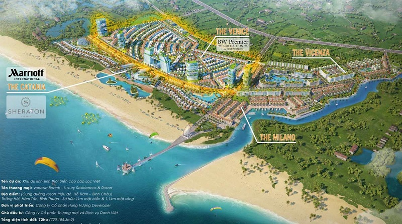 Quy hoạch phân khu dự án Venezia Beach Hồ Tràm - Bình Châu