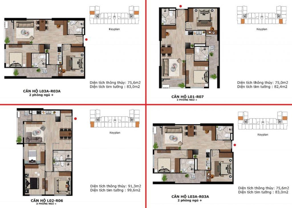Thiết kế 1 căn hộ dự án BID Homes Eden Garden Lê Lợi - Thái Bình