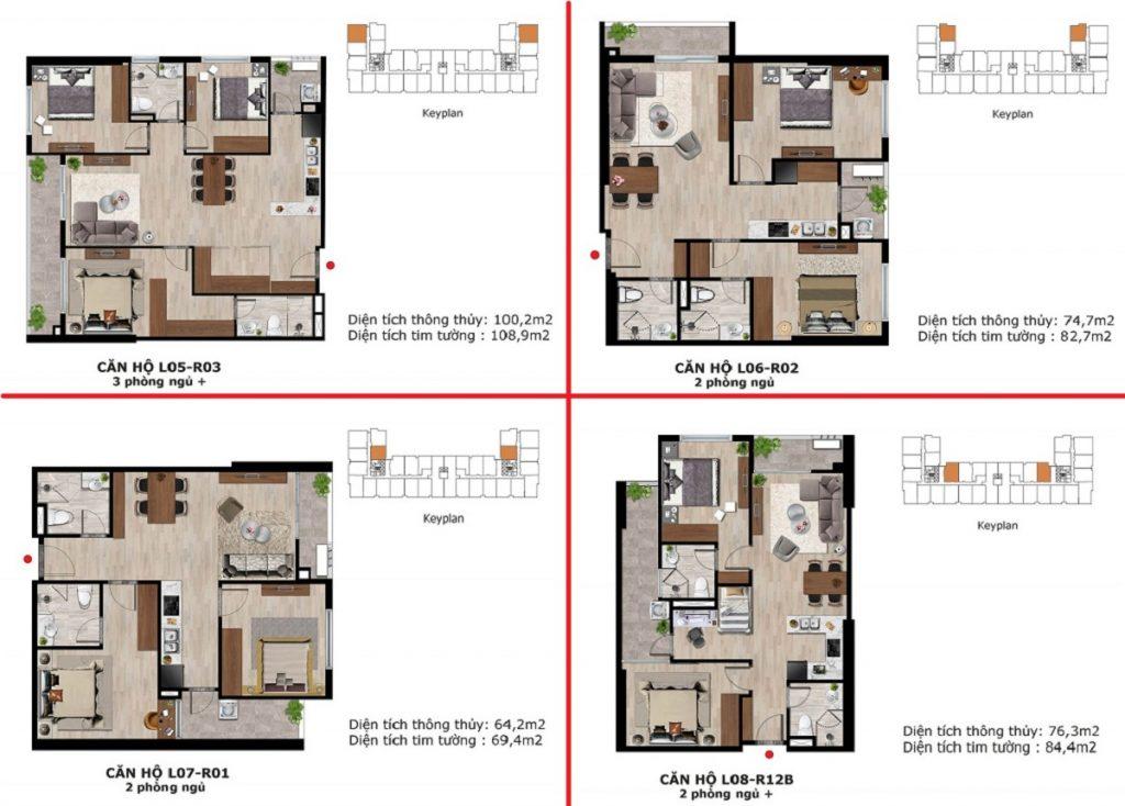 Thiết kế 2 căn hộ dự án BID Homes Eden Garden Lê Lợi - Thái Bình