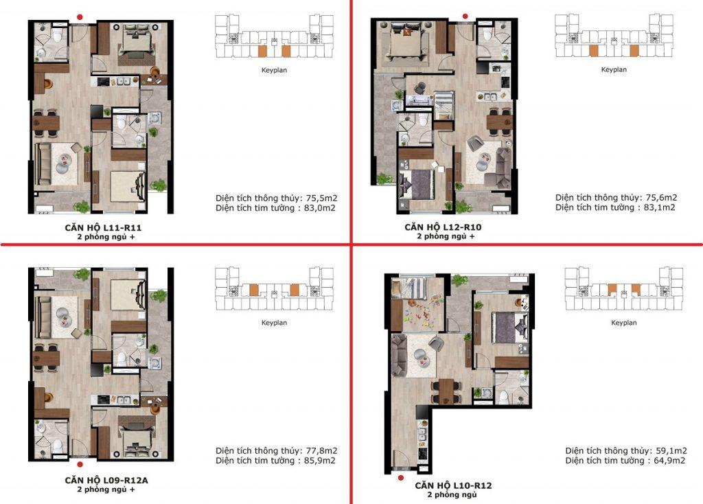 Thiết kế 3 căn hộ dự án BID Homes Eden Garden Lê Lợi - Thái Bình