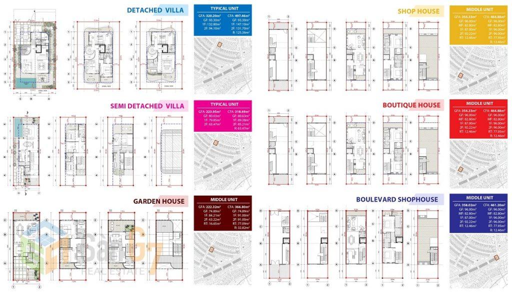 Thiết kế biệt thự - nhà phố dự án Venezia Beach Hồ Tràm - Bình Châu