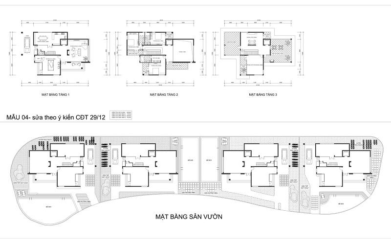 Thiết kế biệt thự dự án V Melody Villas Hòa Lạc - Thạch Thất