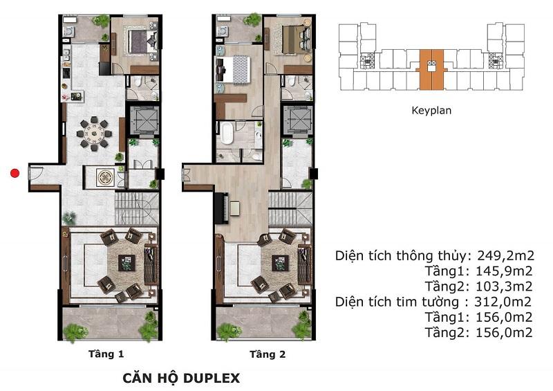 Thiết kế căn hộ Duplex dự án BID Homes Eden Garden Lê Lợi - Thái Bình