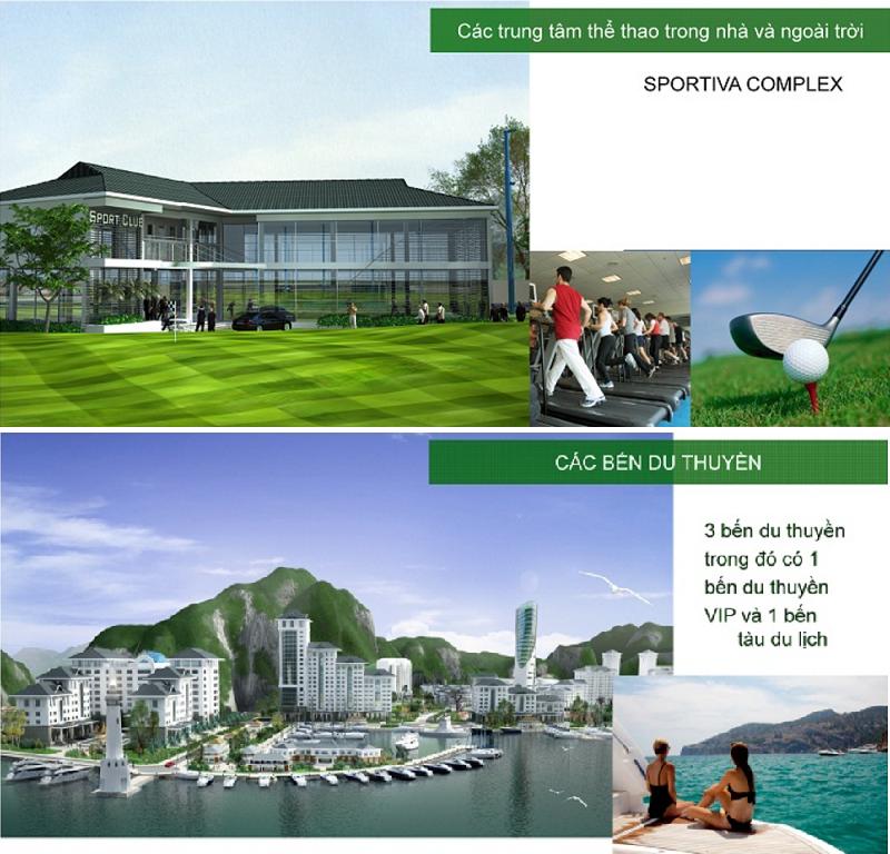 Tiện ích golf-bến du thuyền dự án Cát Bà Amatina Vinaconex ITC Hải Phòng
