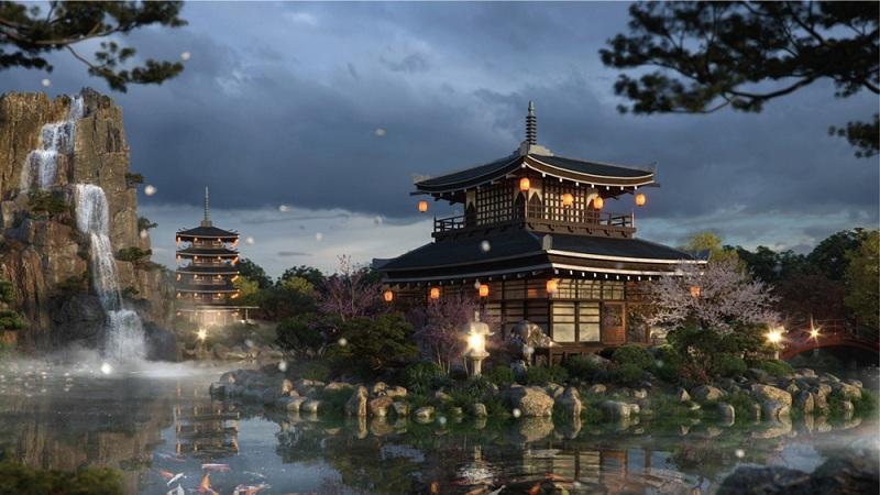 Tiện ích trà đạo chung cư The Landmark Onsen Ecopark