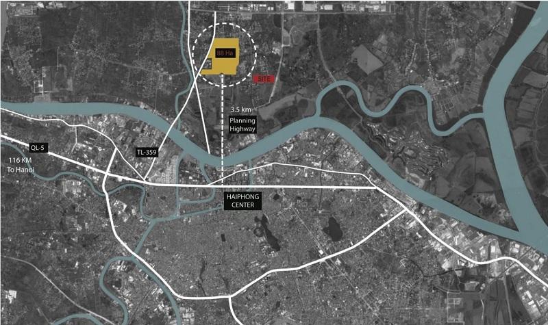 Vị trí dự án Hoàng Huy New City Thủy Nguyên - Hải Phòng