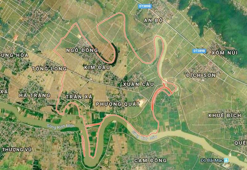 Vị trí Khu đô thị Lạc Long - Kinh Môn - Hải Dương