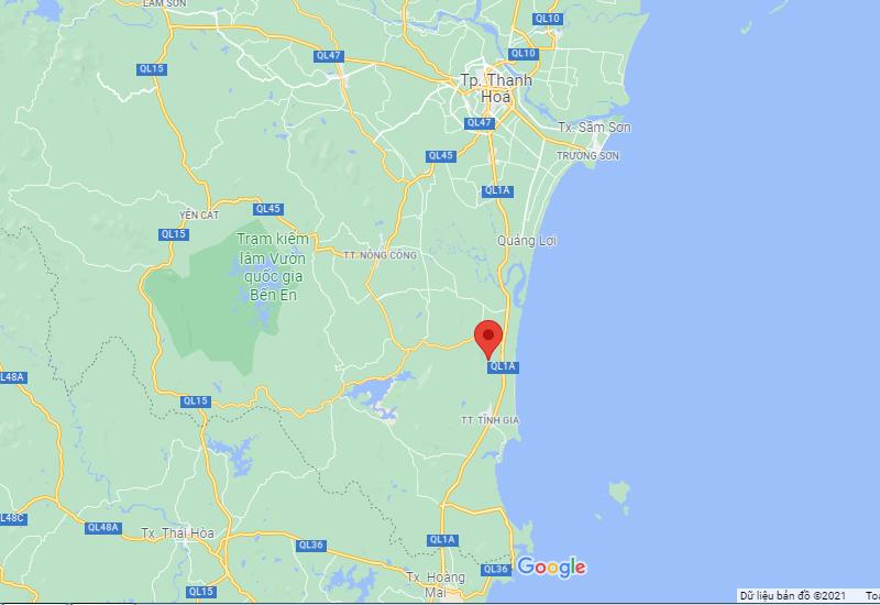 Vị trí khu du lịch sinh thái Tân Dân - Nghi Sơn - Thanh Hóa của tập đoàn T&T Group