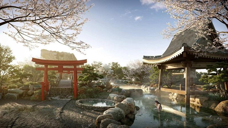 Vườn Nhật Bản chung cư The Landmark Onsen Ecopark