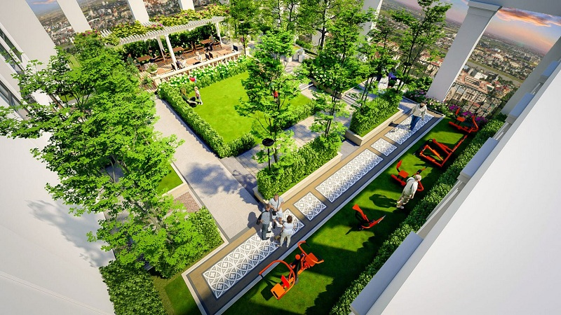 Vườn treo dự án BID Homes Eden Garden Lê Lợi - Thái Bình