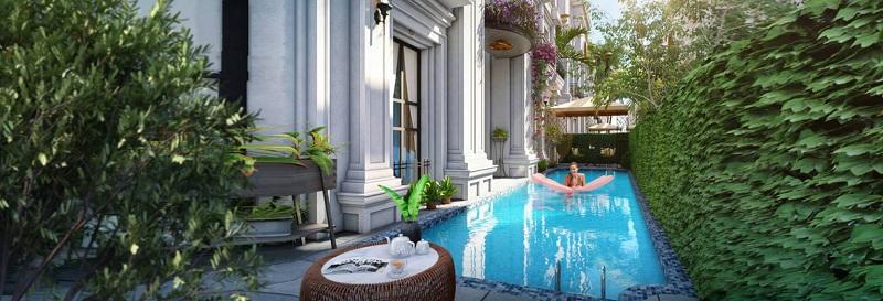 Bể bơi biệt thự dự án Sunshine Capital Tây Thăng Long