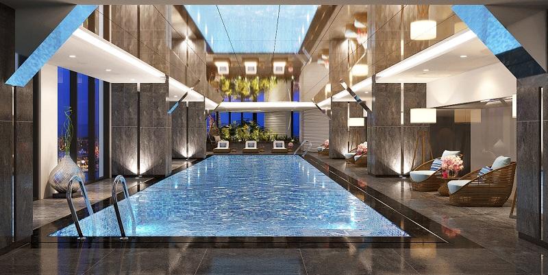 Bể bơi dự án Trinity Tower Mễ Trì - CenInvest