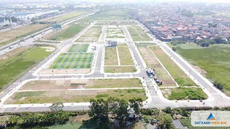 Flycam 2 đất nền dự án Long Châu Star Mẫn Xá - Yên Phong đối diện Samsung Bắc Ninh