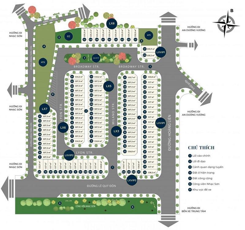 Mặt bằng dự án CIC Luxury Lào Cai - Cốc Lếu