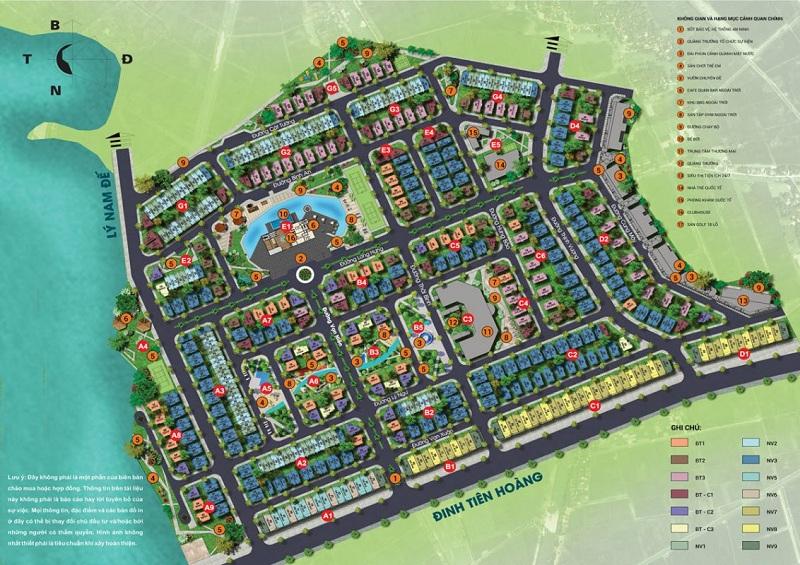 Mặt bằng tiện ích dự án Times Garden Vĩnh Yên Residences