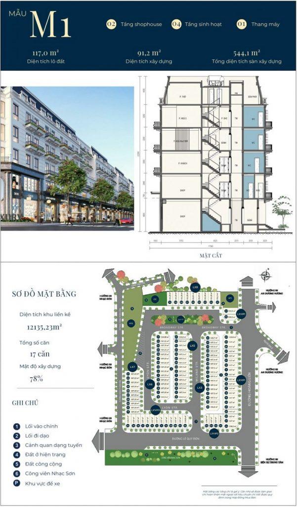 Mẫu thiết kế nhà phố M1 dự án CIC Luxury Lào Cai - Cốc Lếu