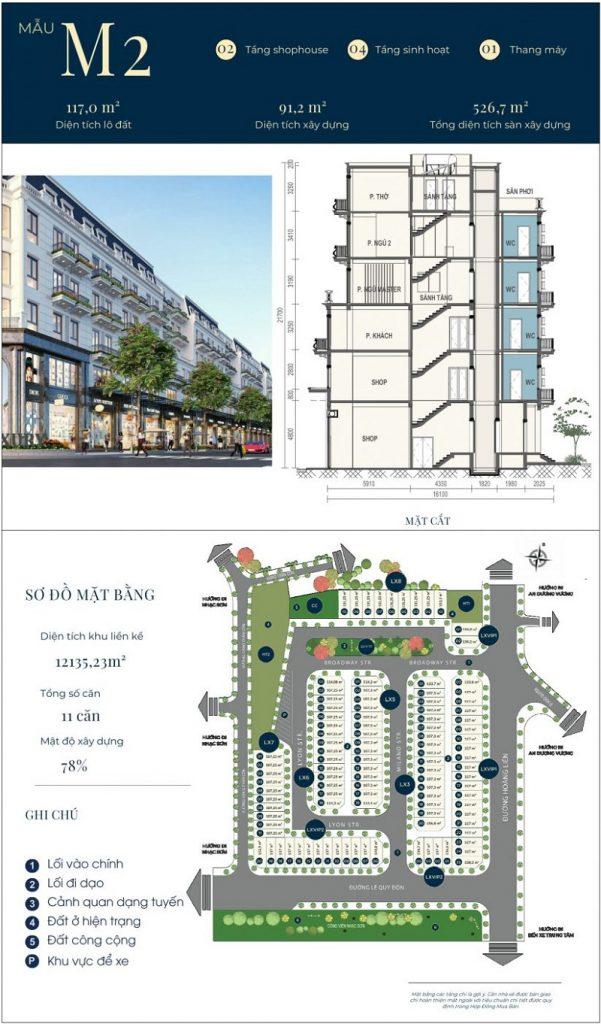 Mẫu thiết kế nhà phố M2 dự án CIC Luxury Lào Cai - Cốc Lếu