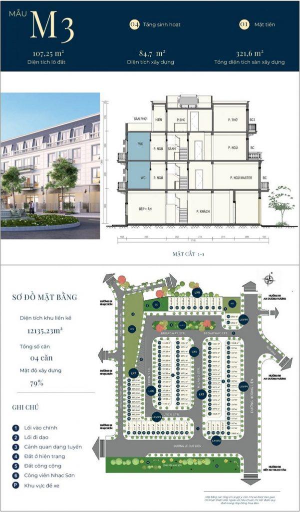 Mẫu thiết kế nhà phố M3 dự án CIC Luxury Lào Cai - Cốc Lếu