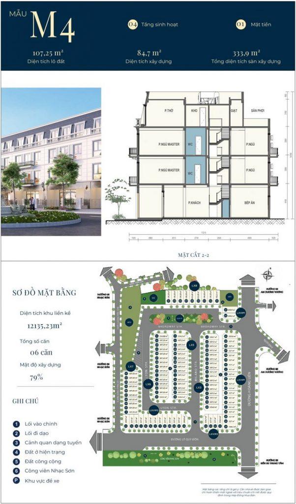 Mẫu thiết kế nhà phố M4 dự án CIC Luxury Lào Cai - Cốc Lếu