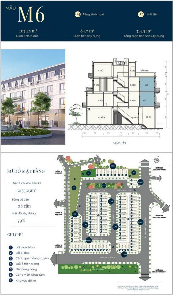 Mẫu thiết kế nhà phố M6 dự án CIC Luxury Lào Cai - Cốc Lếu