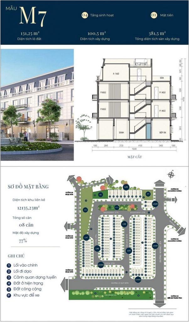 Mẫu thiết kế nhà phố M7 dự án CIC Luxury Lào Cai - Cốc Lếu