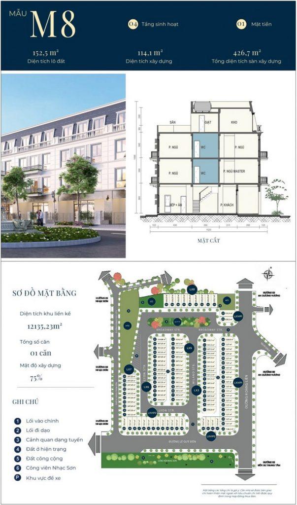 Mẫu thiết kế nhà phố M8 dự án CIC Luxury Lào Cai - Cốc Lếu