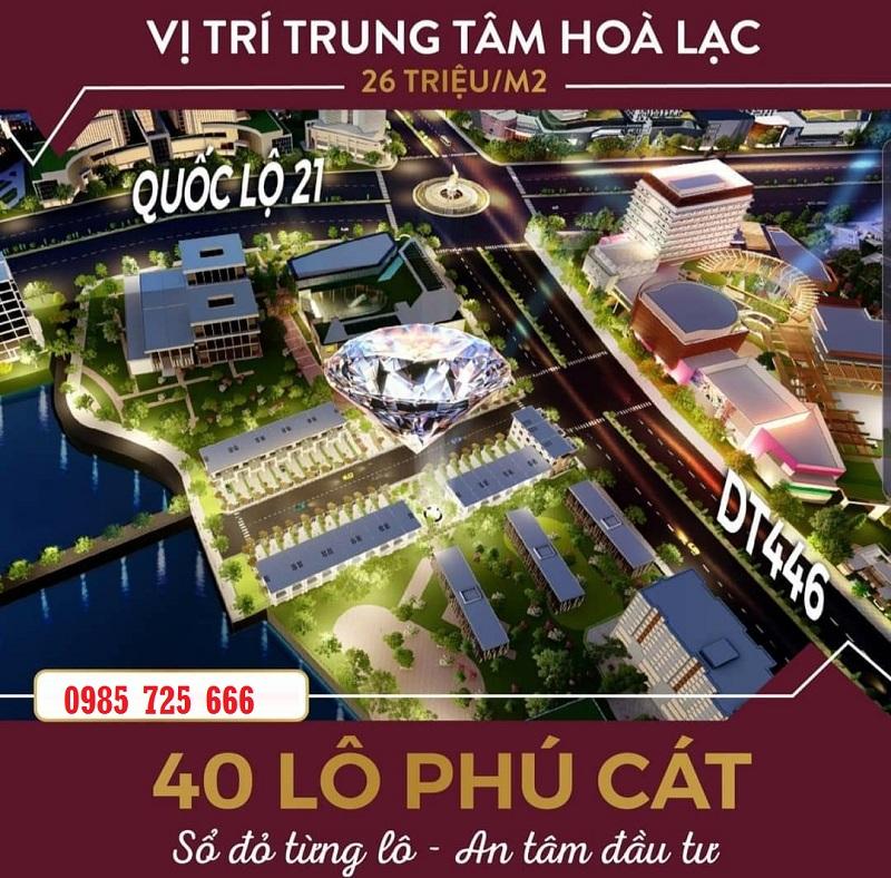 Mở bán khu 40 lô đất nền Phú Cát - Hòa Lạc mặt đường tỉnh lộ 446