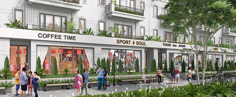 Phối cảnh 2 shophouse dự án Times Garden Vĩnh Yên Residences