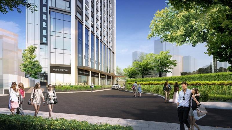 Phối cảnh 3 dự án Trinity Tower Mễ Trì - CenInvest