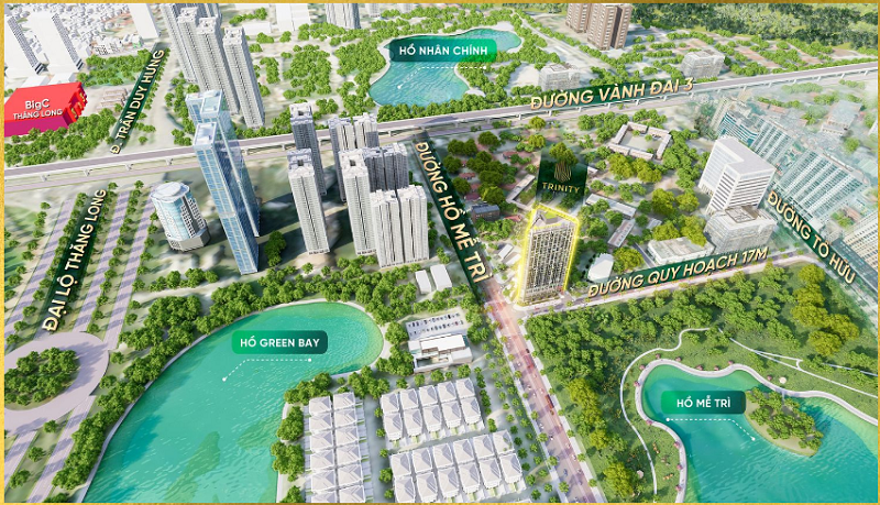 Phối cảnh 4 dự án Trinity Tower Mễ Trì - CenInvest