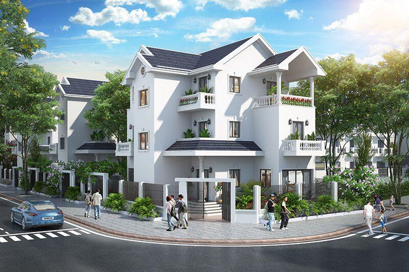 Phối cảnh biệt thự dự án Times Garden Vĩnh Yên Residences