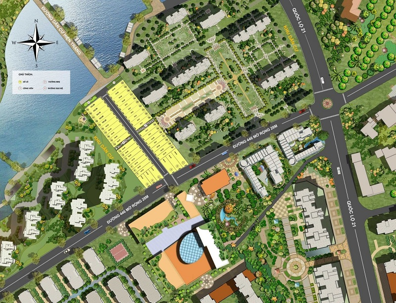 Quy hoạch 40 lô đất nền Phú Cát - Hòa Lạc mặt đường tỉnh lộ 446
