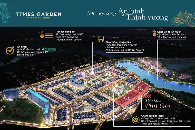 Quy hoạch dự án Times Garden Vĩnh Yên Residences