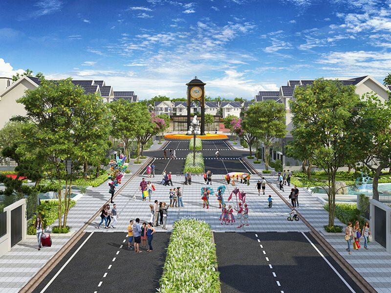 Tháp đồng hồ dự án Times Garden Vĩnh Yên Residences