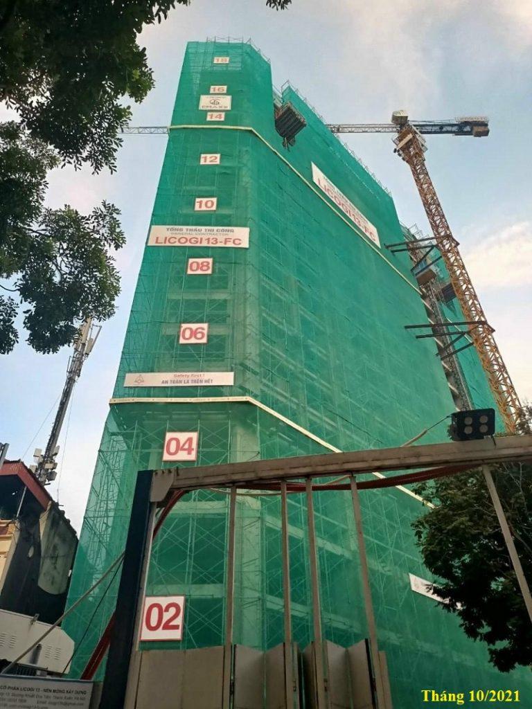Tiến độ thi công dự án Trinity Tower Mễ Trì - CenInvest