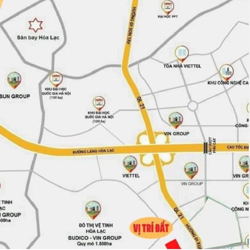 Vị trí 40 lô đất nền Phú Cát - Hòa Lạc mặt đường tỉnh lộ 446