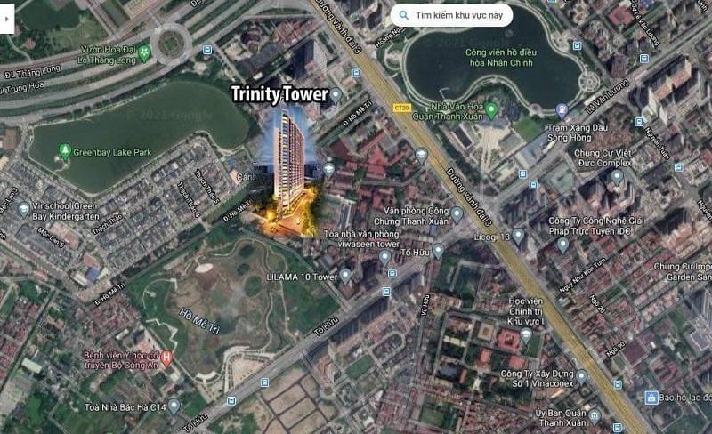 Vị trí dự án Trinity Tower Mễ Trì - CenInvest