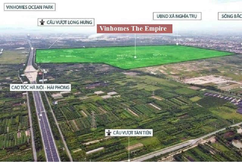 Vị trí dự án Vinhomes The Empire Hưng Yên