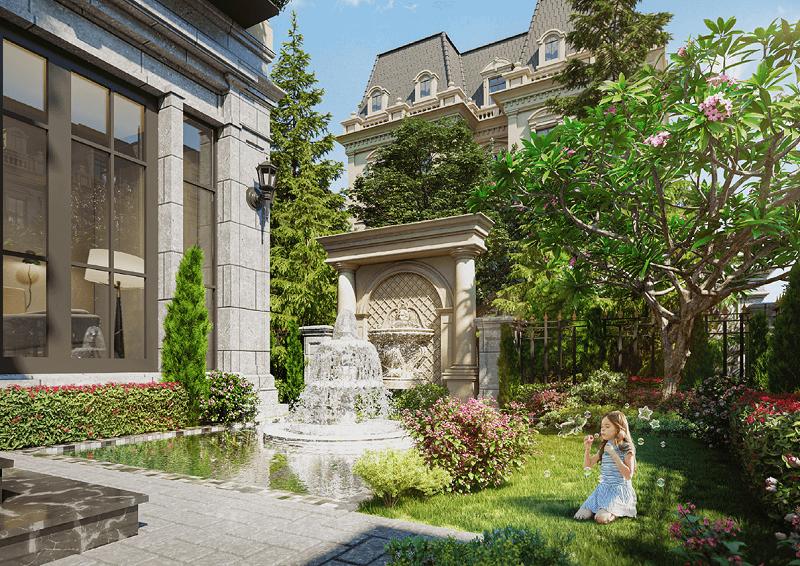Vườn hoa dự án Sunshine Capital Tây Thăng Long